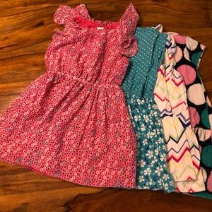 Lot of Like New Girls 4/4T Gymboree Summer Dresses